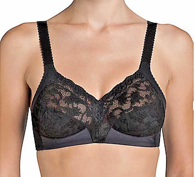c8050831b3 Triumph Delicate Doreen Black Lace Non Wired Full Cup Bra in Size ...