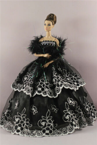 Doll #18 Fashion Party Dress Evening Clothes//Gown+Shawl For 11 inch