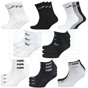 Puma-Socks-3-Pairs-Mens-Womens-Crew-Ankle-Liner-Cotton-Sports-Socks-Size-UK-2-11