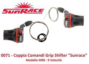 Coppia-Manettini-Comandi-Grip-Shift-Sunrace-M90-9V-per-Bici-26-28-Corsa-Strada