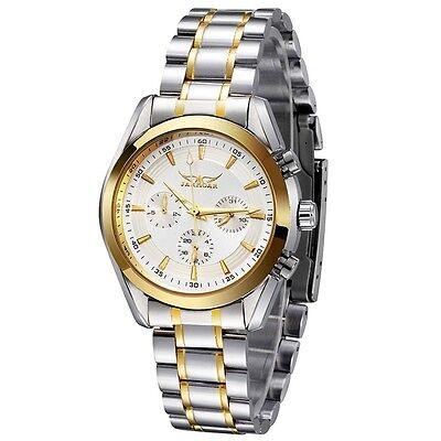 Luxury Mens 6 Hands  Stainless Steel Automatic Mechanical Date Week Wrist Watch