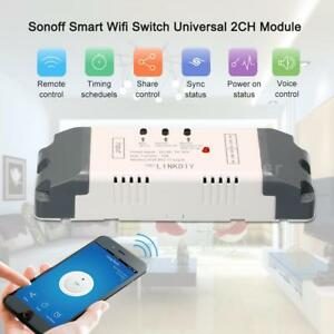 Details about eWeLink 2CH 7-32V Smart WiFi Voice Control Switch Module  Timer APP for SmartHome