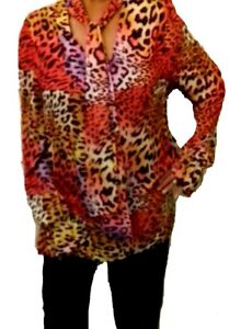 JOHN-ZACK-MULTI-LEOPARD-PRINT-PUSSY-BOW-BLOUSE-TIE-NECK-AND-SACH
