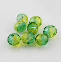 48pcs 8mm Faceted Rondelle Glass Crystal Loose Spacer Beads B228