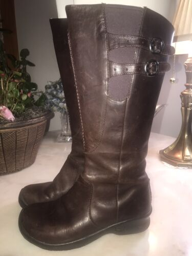 Keen Women's Brown Leather Boots Size 6 M Bern Bab