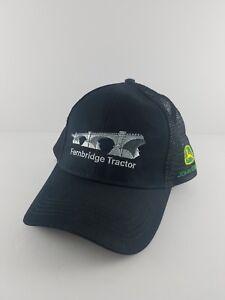 John-Deere-Black-Mesh-Trucker-Hat-Side-Patch-Snapback-USA-Fernbridge-Tractor