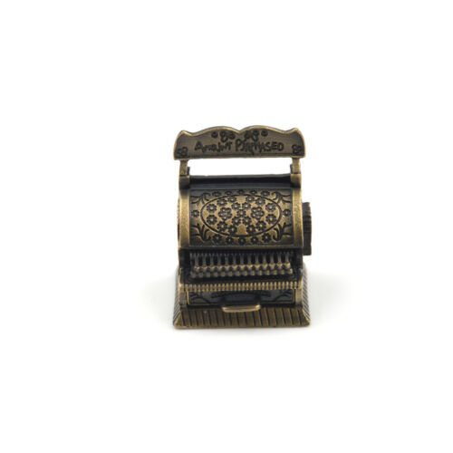 Dollhouse Miniature Accessories Vintage Metal Cash Register Furniture$j