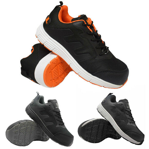 MENS ULTRA LIGHTWEIGHT SAFETY STEEL TOE CAP TRAINERS WORK SHOE BOOTS