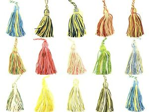 Key-Tassels-14-Variegated-Colours-Suitable-for-Cushions-or-Craft-10cm-Long