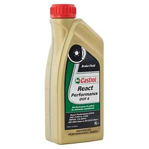 Details about Castrol Racing/Track Brake Fluid React Performance 265 Degree Boiling Point 1L