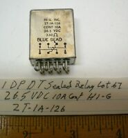 1 Sealed Relay Dpdt 26.5v Dc 10 Amp Cont. Hi-g 2t-1a-126, Lot 67, Made In Usa