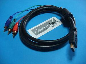 Cable Adaptador Hdmi Conector Componentes Rgb Television