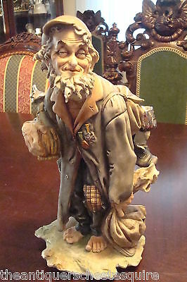 Capodimonte G. Cappe signed HOBO with Wine Carafe, Italy[9]