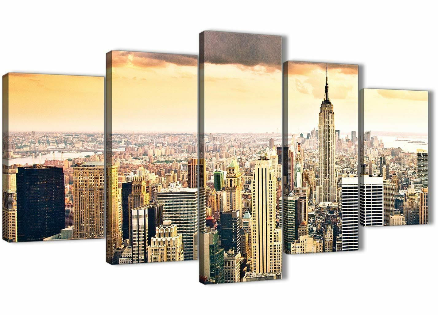 Set new york manhattan grau skyline gelb grau manhattan city