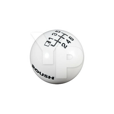 2015-2017 Mustang ROUSH 6-Speed Manual Trans Shift Knob - White w/ Black 421907
