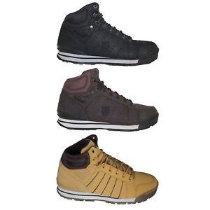 K-Swiss-Norfolk-Herren-Boots-Herren-Schuhe-Sneaker-High-Outdoor-Leder-NEU