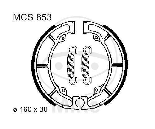 Bremsbacken mit Feder TRW LUC MCS819