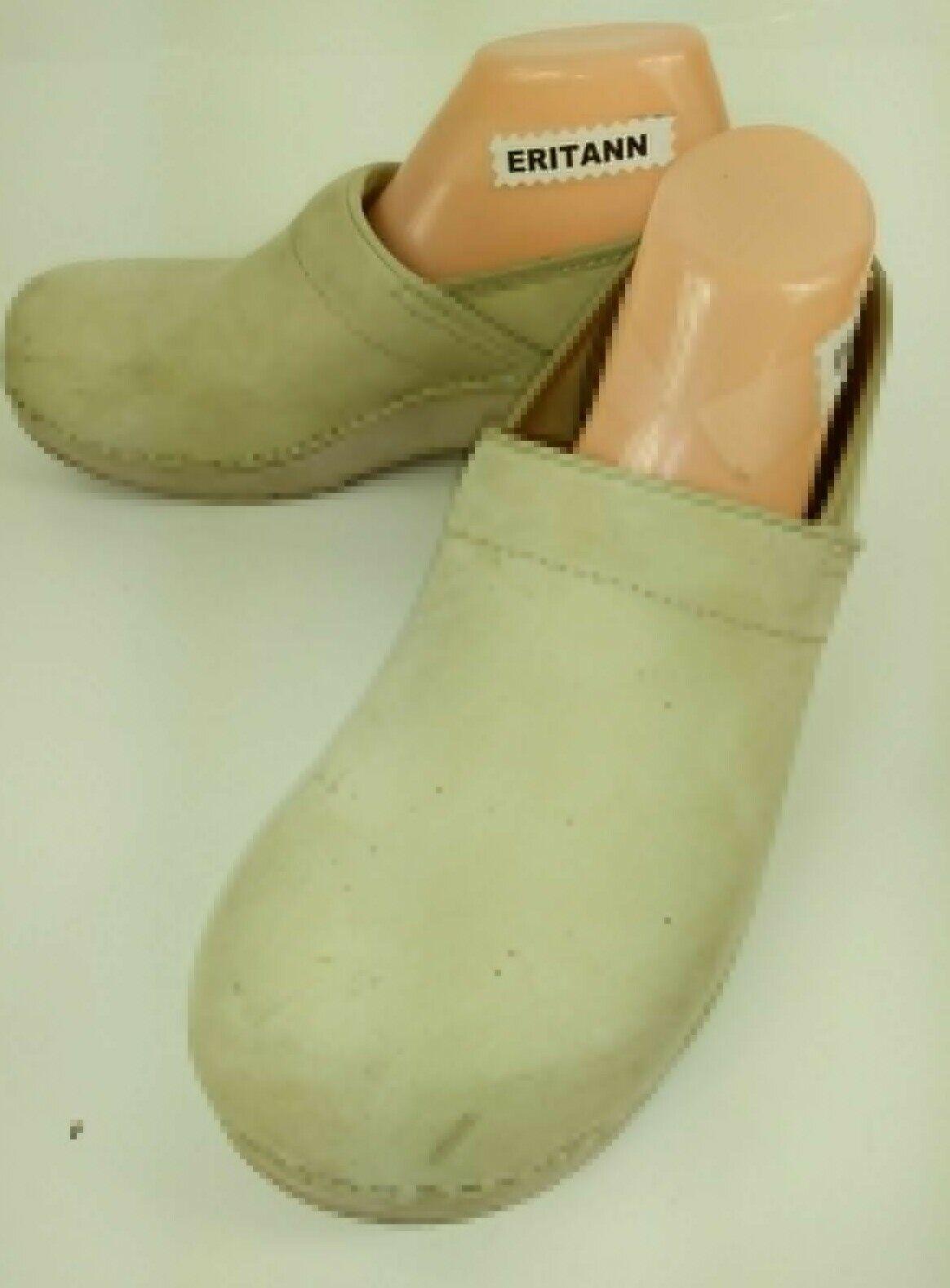 DANSKO Womens shoes EU 42 US 11.5 off white Nubuck Leather Work Clogs 1108