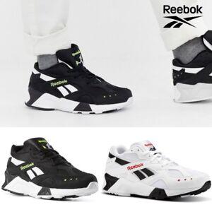 Image is loading Reebok-Classics-AZTREK-Running-Shoes-Sneakers-Black-White- 27bab0df2