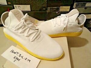 4afe533b51092 NEW Adidas PW TENNIS HU White Yellow BY2674 Pharrell Williams Human ...