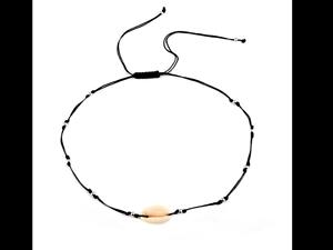 Collier Cordon réglable Pendentif Coquillage Cauri