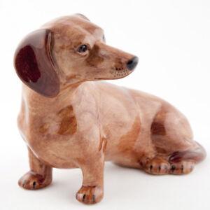 QUAIL CERAMIC RED DACHSHUND DOG MONEYBOX OR PIGGY SAVINGS BANK MONEY BOX