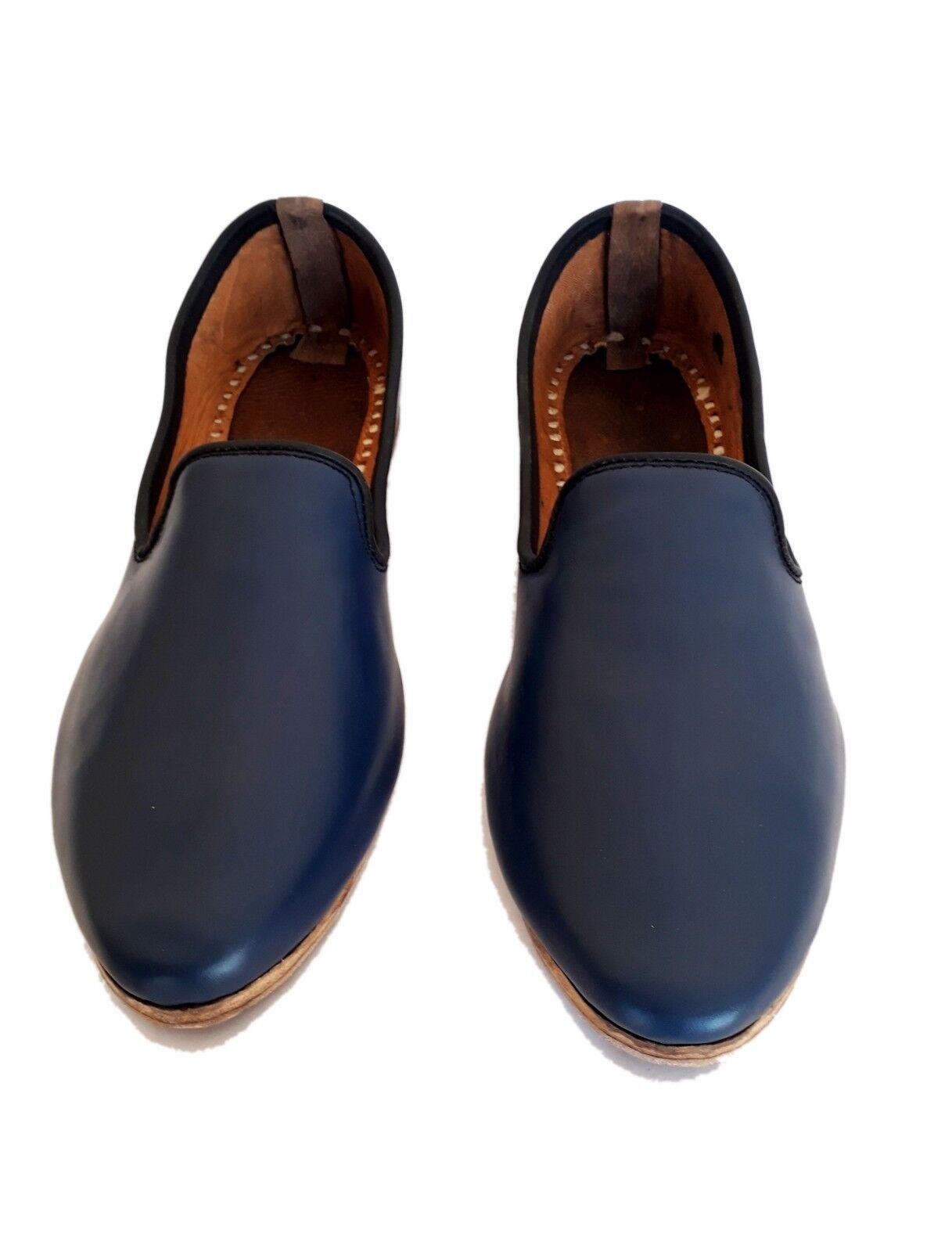 4d460ab4776e Blue mens leather shoes handmade shoes vintage shoes shoes shoes leather  jutti mens sandals 4641ac