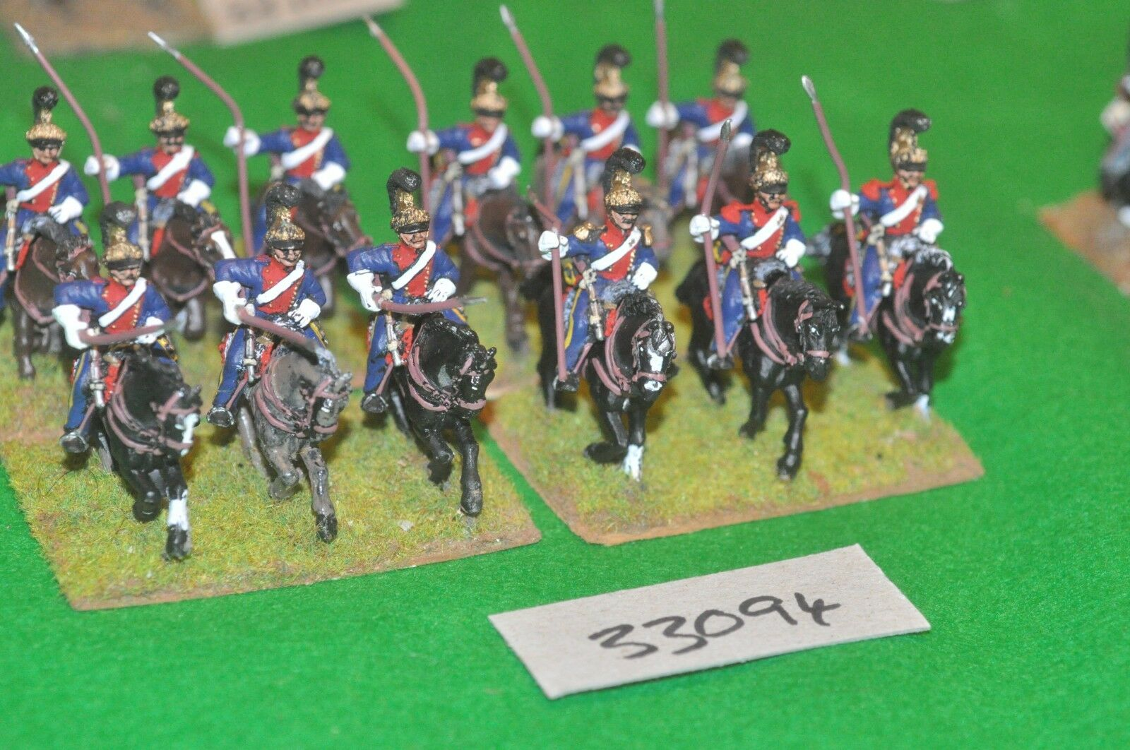 25mm napoleonic   french - leger lancer regiment 12 figures - cav (33094)