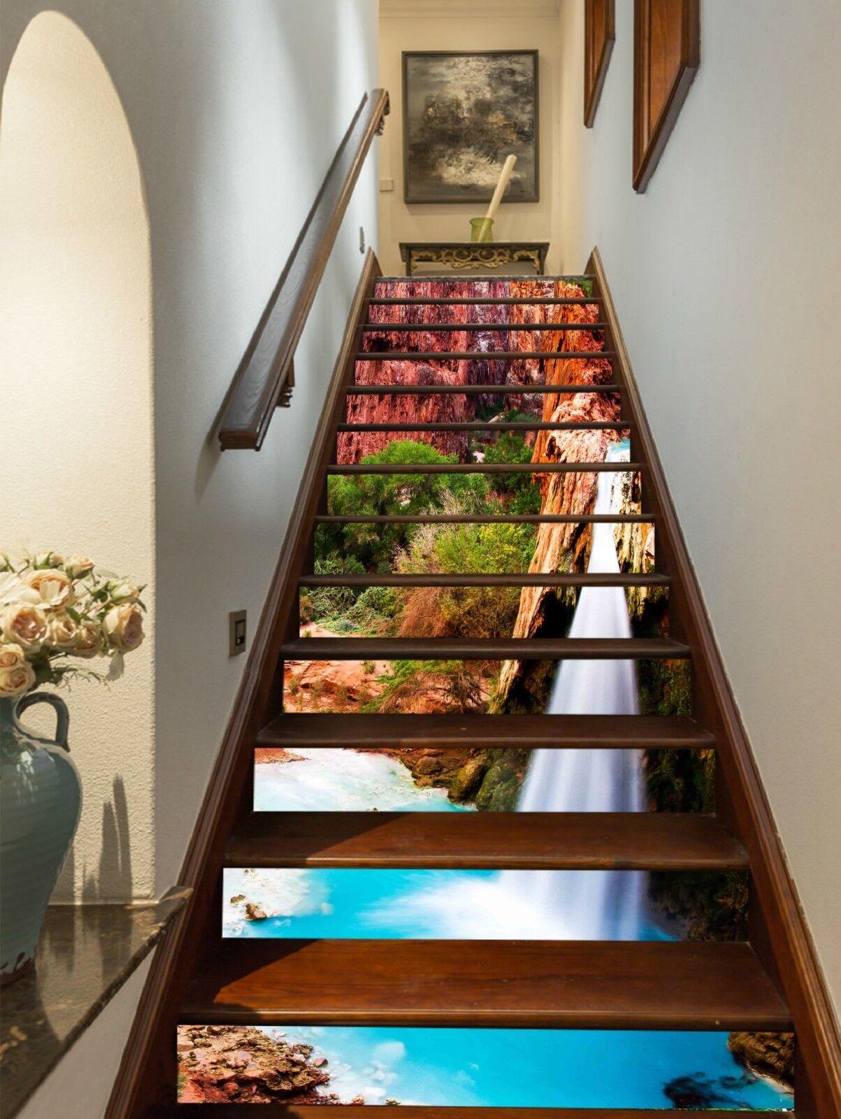 3D Havasu-Flle 320 Stair Risers Dekoration Fototapete Vinyl Aufkleber Tapete DE
