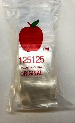 "12510 Apple Tiny Mini Red Lips Ziplock Bags Baggies 1000 Ziploc 1.25 x 1.0/"""