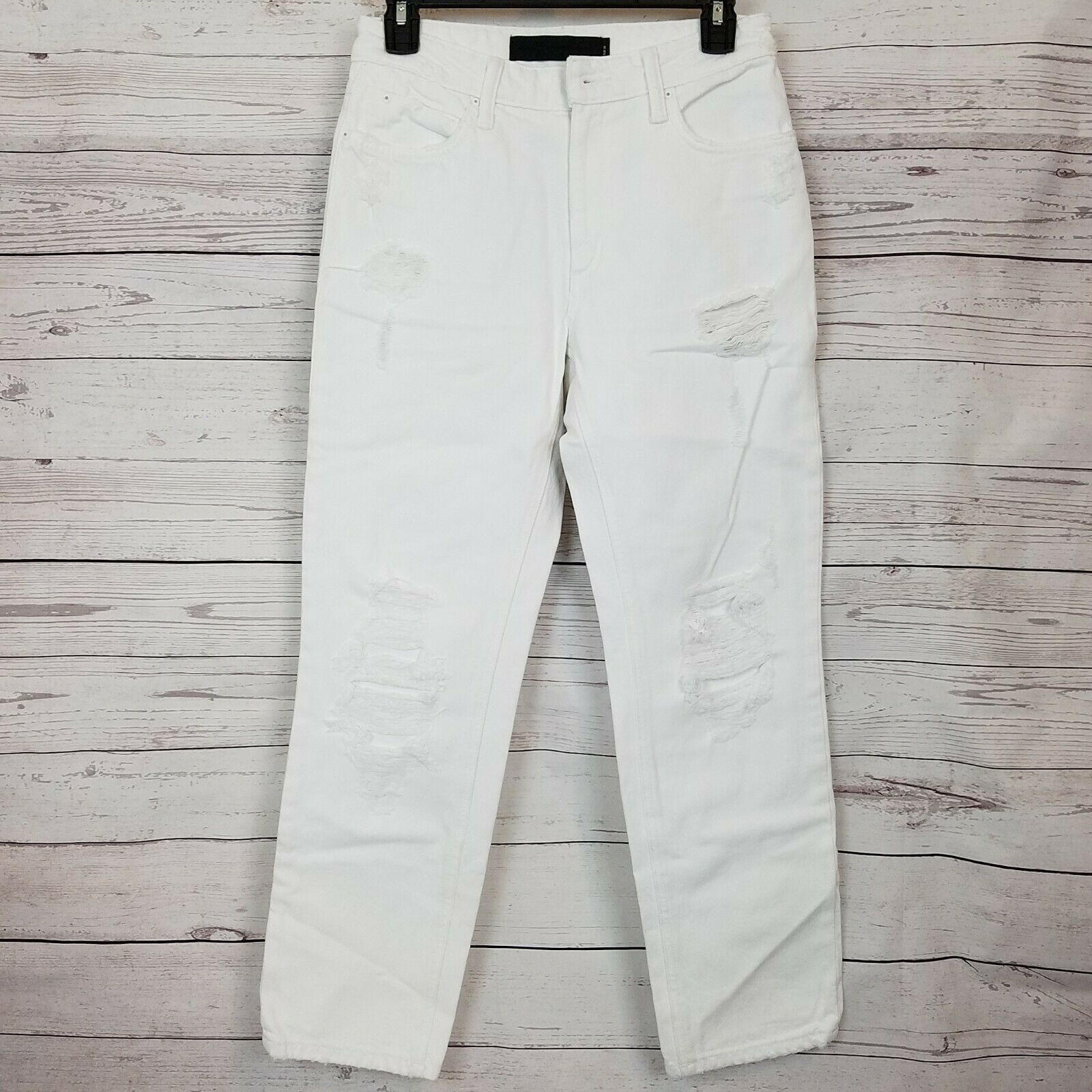 T by Alexander Wang Womens Cult White Destroyed Jeans Size 26 White NWD NWT  295