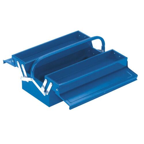 """Draper 17/"""" 430 mm Métal Cantilever Boite à outils de stockage boîte à outils bleu nouveau 86673"""
