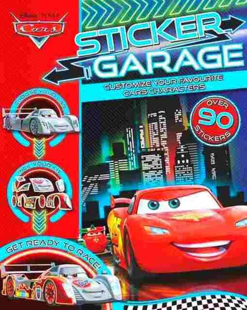 Disney Pixar Cars Sticker Garage Paperback Book 100 Stickers