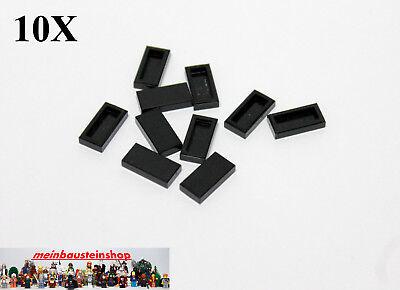 LEGO NEW 1x2 Black Tile 10x 306926 Brick 3069