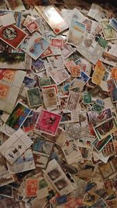Worldwide-Assortment-Of-300-Cancelled-Foreign-Stamps-Collection-Foreign-Lot