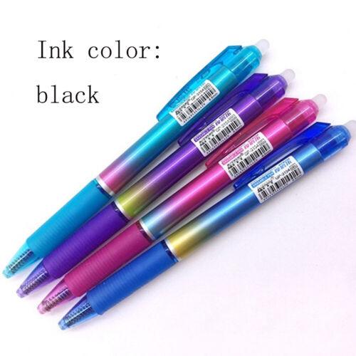 4pcs 0.5mm Rainbow Color Erasable Gel Pen Rub Magic Pushed Pen With Blue Refills