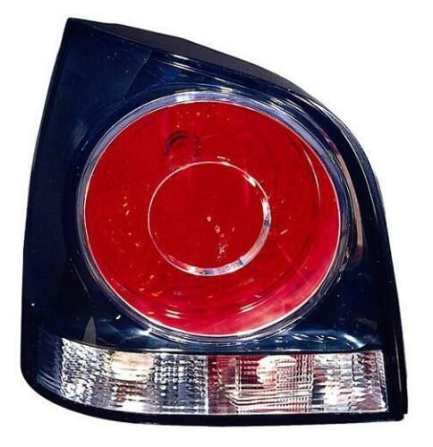 FARO FANALE POSTERIORE Volkswagen POLO 2005-2009 FONDO NERO SINISTRO
