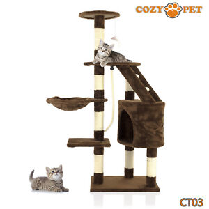 Cozy-Pet-Deluxe-Cat-Tree-Sisal-Scratching-Post-Quality-Cat-Trees-CT03-Choc