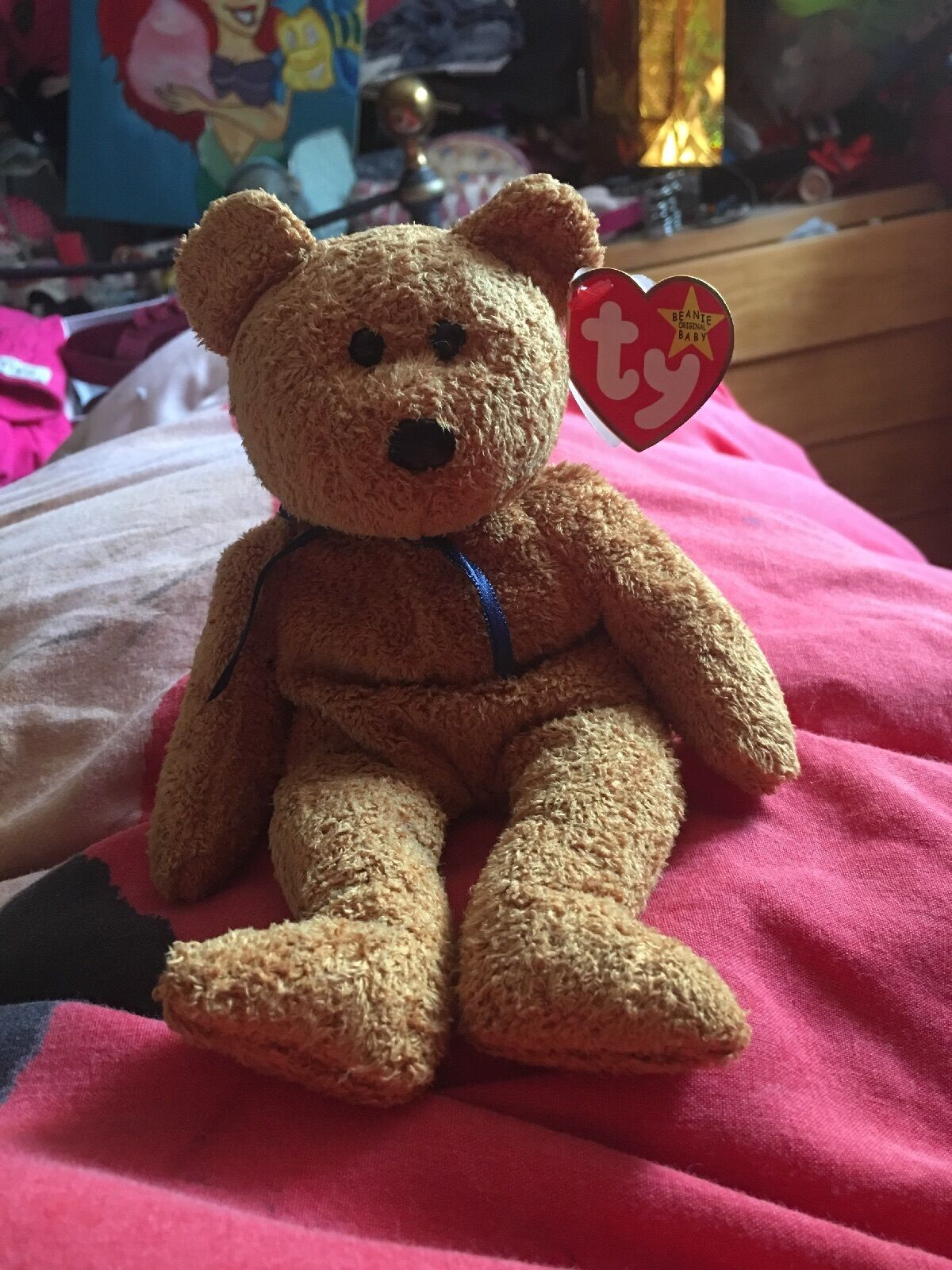 Ty Beanie Babies Rare Fuzz Bear  Retired from the 90s