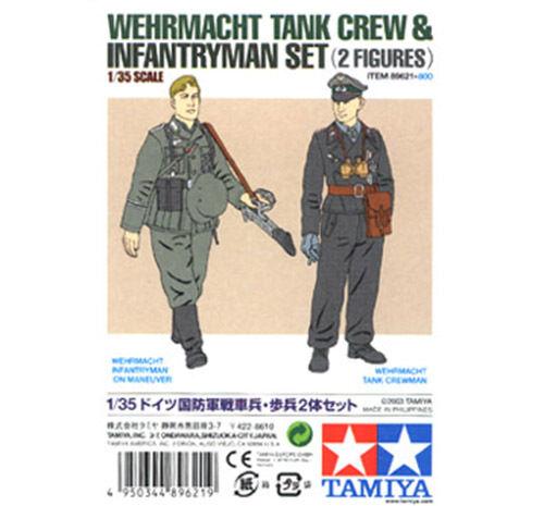 Tamiya Miniatures 1 35 Wehrmacht Tank Crew & Infantryman Set Job Lot(10 kits)