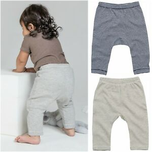 Coton-Bio-Bebe-Leggings-Pantalon-Doux-Stretch-Garcon-Fille-Pantalon-en-jersey-a-rayures