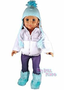 Blue-Fleece-Jacket-Hat-Boots-Winter-Set-made-for-18-034-American-Girl-Doll-Clothes