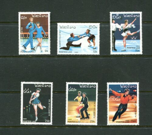 OLYMPICS/SKATING - Laos - 1989 set of 6 (SC 915-20) -MNH-C323