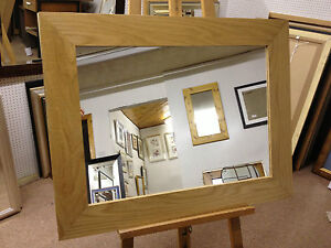 NEW-LARGE-4-FLAT-NATURAL-SOLID-OAK-FRAMED-OVERMANTLE-WALL-MIRRORS-VARIOUS-SIZES