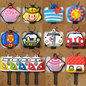 FUNKY-KEY-HEAD-COVER-New-Keyring-Cap-Chain-Bag-Charm-Fob-Holder-Home-Accessory
