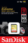 SanDisk Extreme 32GB SDHC 90 MB/S UHS-1 SD Class 10 Memory Card SDSDXVE-032G U3