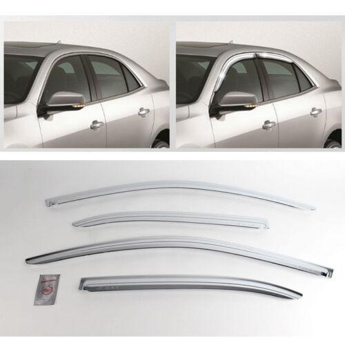 2012 Malibu Chrome Sun Shade Rain Guard Door Window Visor Trim K-735