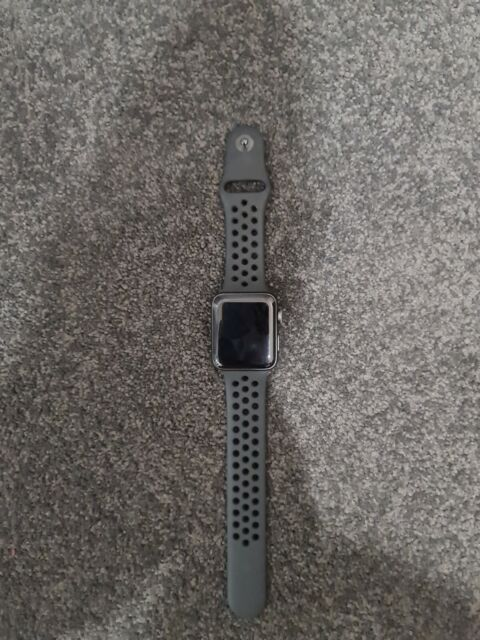 Discreto Empleado Confundir  Apple Watch Nike+ 42mm Space Grey Aluminium Case with Anthracite/Black Nike  Sport Band (GPS + Cellular) - (MQMF2X/A) for sale online | eBay
