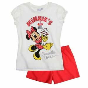 DISNEY-pyjacourt-pyjashort-pyjama-MINNIE-blanc-rouge-taille-8-ans-neuf