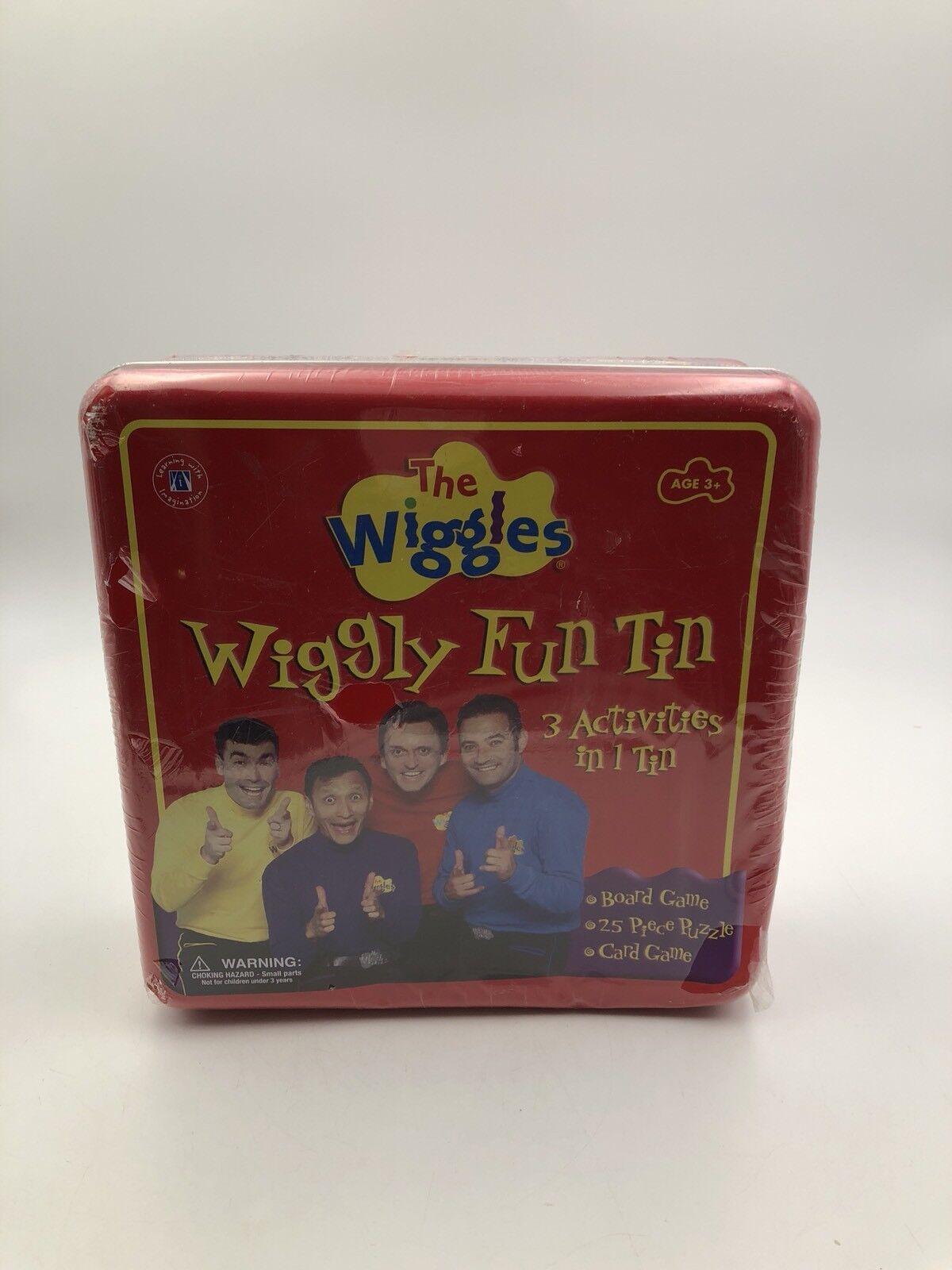 The Wiggles-Wiggly Fun Métal Tin  3 activités  Board Game + Puzzle + cartes